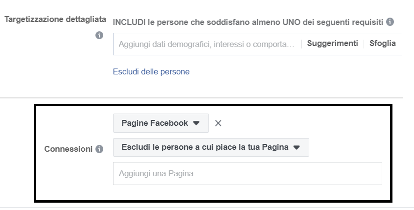 Esclusione Fan Pagina Facebook
